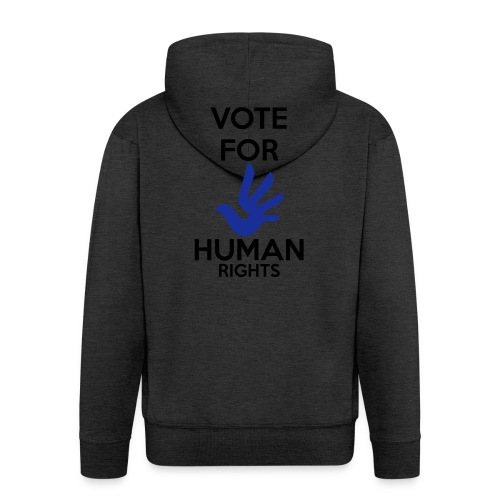 Vote for Human Rights - Mannenjack Premium met capuchon