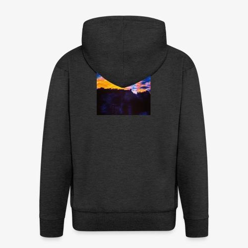 Artistic Sunset - Felpa con zip Premium da uomo