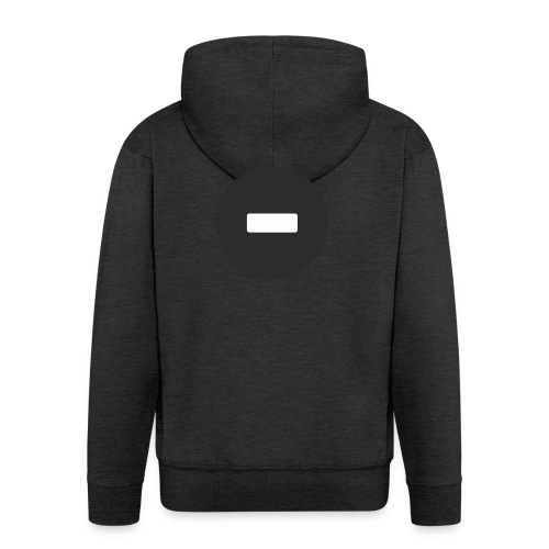 White-black button - Men's Premium Hooded Jacket