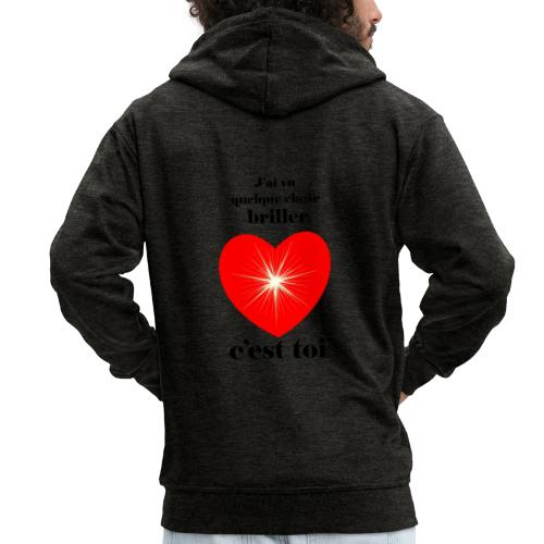 Coeur brillant ...amoureux ou inspiré FC - Veste à capuche Premium Homme