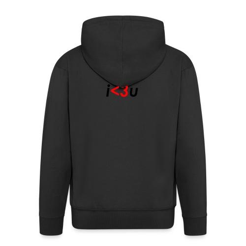 C# is love - Felpa con zip Premium da uomo