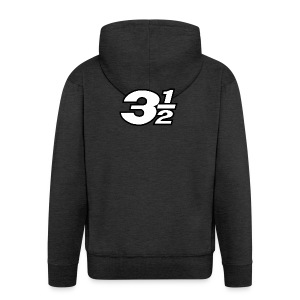 Three and a Half Logo - Men's Premium Hooded Jacket
