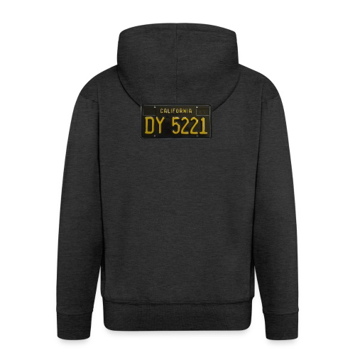 CALIFORNIA BLACK LICENCE PLATE - Men's Premium Hooded Jacket