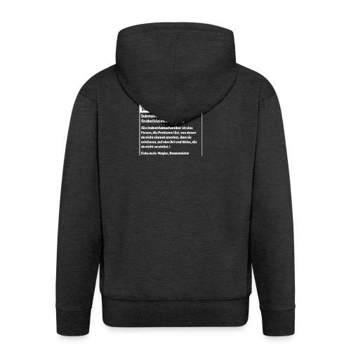 Industriemachaniker Defintion - Männer Premium Kapuzenjacke