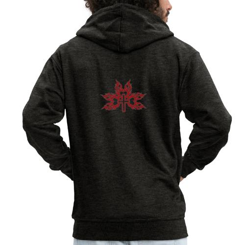 Cross with flaming hearts 01 - Men's Premium Hooded Jacket