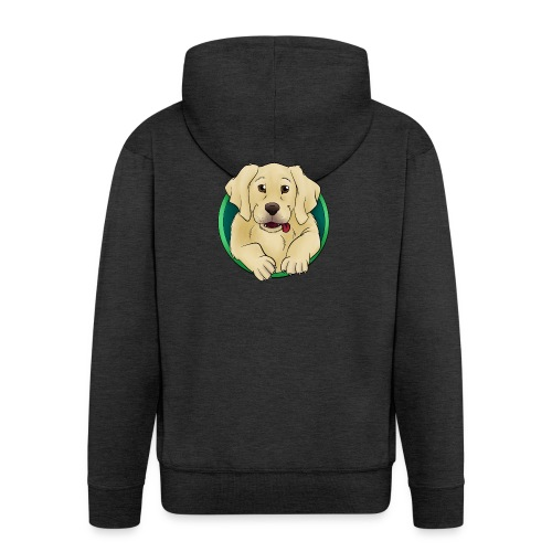 Hunde Portrait - Labrador Welpe - Männer Premium Kapuzenjacke