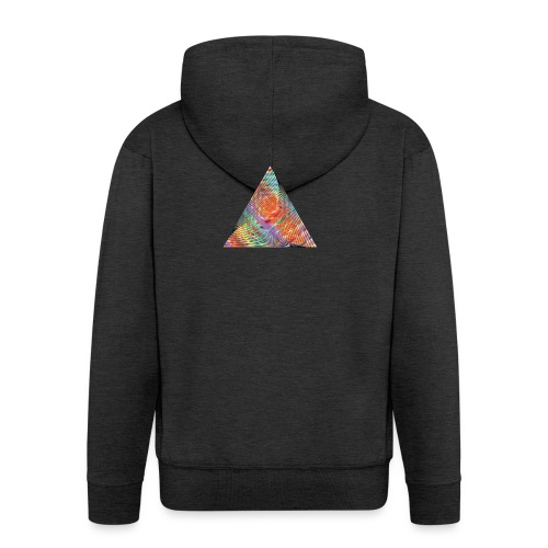 Triangle of twisted color - Men's Premium Hooded Jacket
