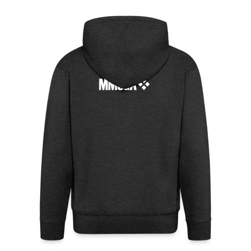 mmoga-logo-white-8817x2008-vector - Männer Premium Kapuzenjacke