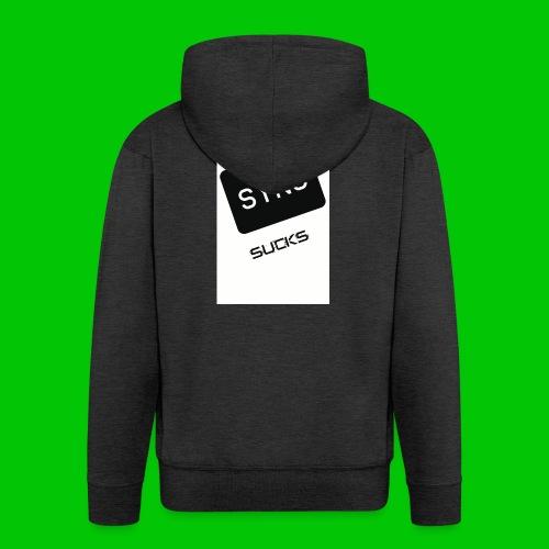 t-shirt-DIETRO_SYNK_SUCKS-jpg - Felpa con zip Premium da uomo