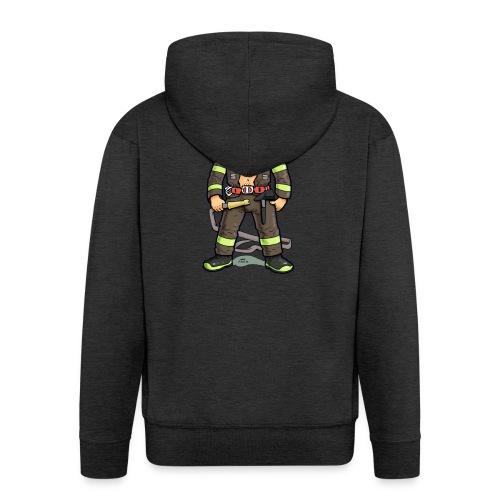 pompiere - Felpa con zip Premium da uomo