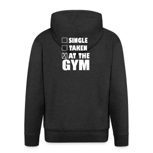 Single Taken at the Gym - Men's Premium Hooded Jacket