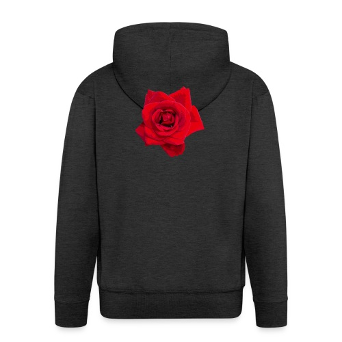 Red Roses - Rozpinana bluza męska z kapturem Premium