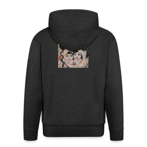 camiseta mujer mama e hijo - Chaqueta con capucha premium hombre