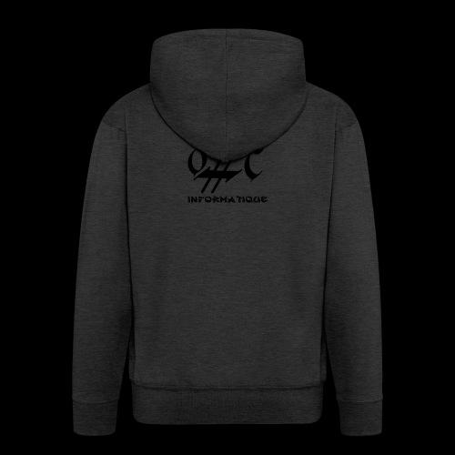 Dark-Code Black Gothic Logo - Veste à capuche Premium Homme