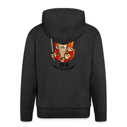 Fire monkey - Men's Premium Hooded Jacket
