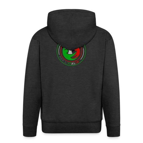 LA_TUA_VOCE_PER_ITALIA_01-png - Felpa con zip Premium da uomo