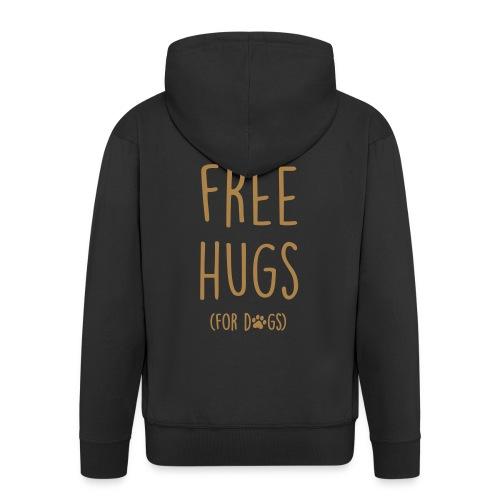 Vorschau: free hugs for dogs - Männer Premium Kapuzenjacke