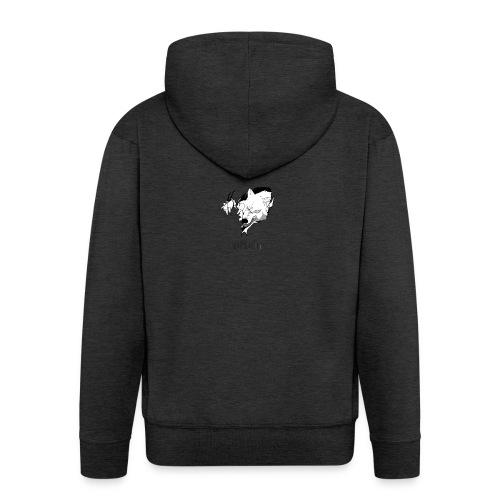 White Wolf White Hoodie - Men's Premium Hooded Jacket