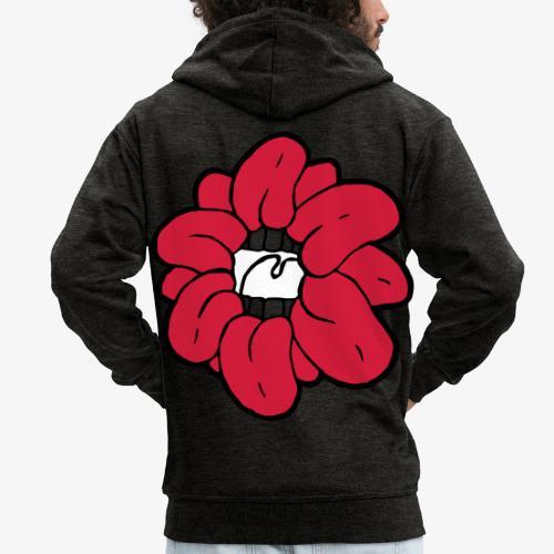 SkinnyCurls Rose - Männer Premium Kapuzenjacke