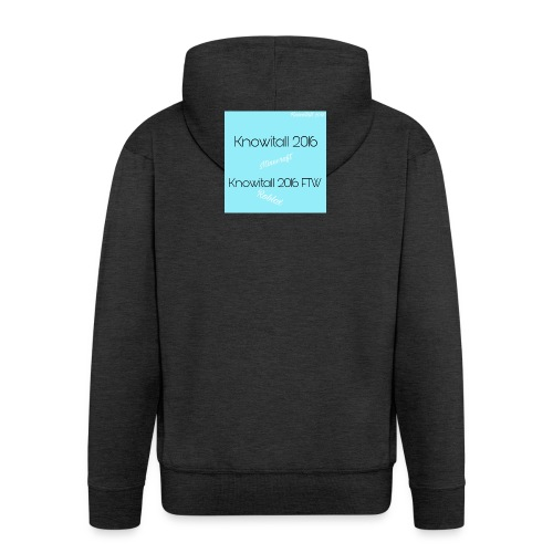 Knowitall 2016 & Knowitall 2016 FTW Custom Clothes - Men's Premium Hooded Jacket