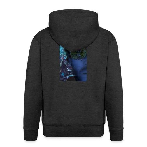 Cyberpunk - Fly verkligheten med en T-shirt - Premium-Luvjacka herr