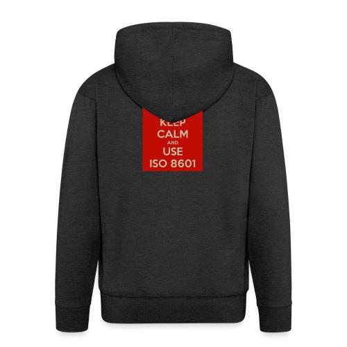 keep calm and use iso 8601 - Premium Hettejakke for menn
