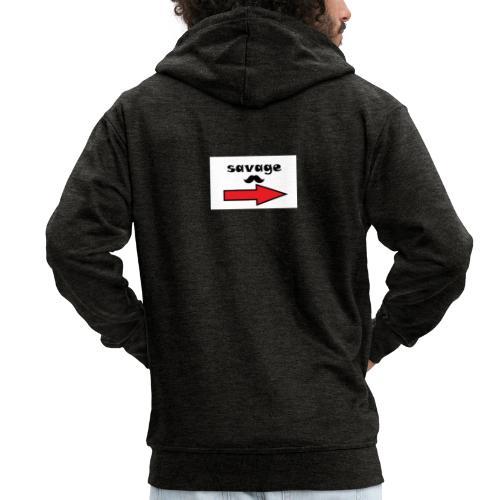 savage - KoTi logolines - Mannenjack Premium met capuchon