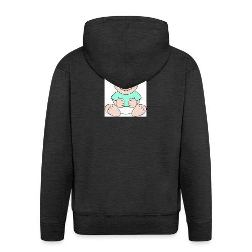 rompertje baby jongen - Mannenjack Premium met capuchon