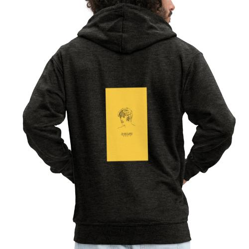 Yellow Boy Art - Men's Premium Hooded Jacket