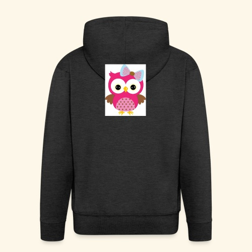 Girly Owl - Men's Premium Hooded Jacket