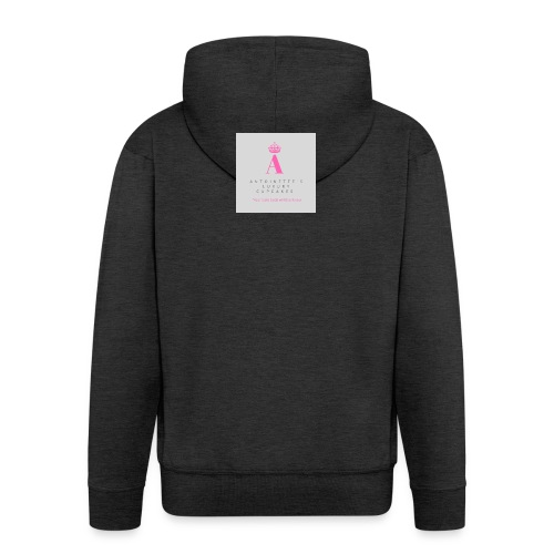 Antoinette's Luxury Cupcakes Grey Logo - Men's Premium Hooded Jacket