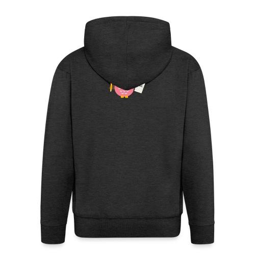 Back to School Owl - Men's Premium Hooded Jacket