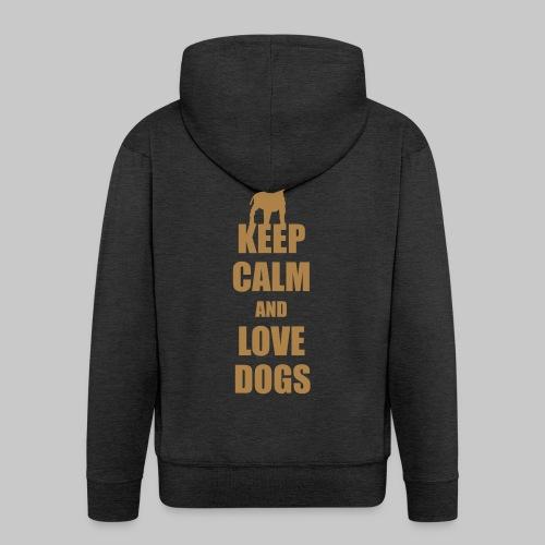 Keep calm love dogs - Männer Premium Kapuzenjacke