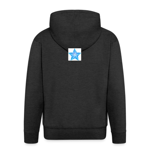 blue themed christmas star 0515 1012 0322 4634 SMU - Men's Premium Hooded Jacket