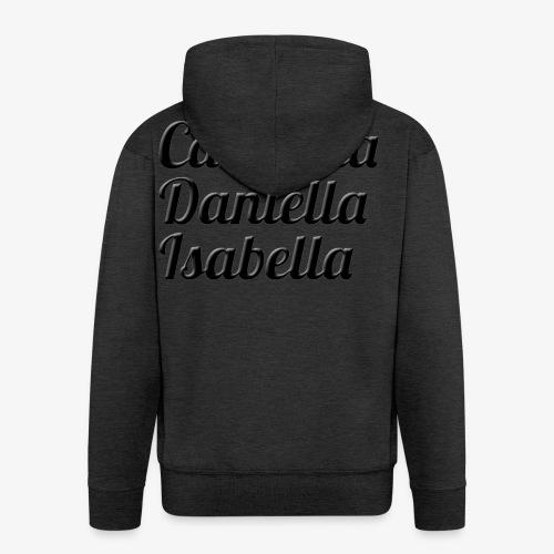 Carmella, Daniella, Isabella - Men's Premium Hooded Jacket