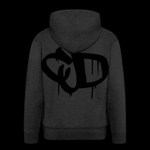 Dripping blood CJD logo - Men's Premium Hooded Jacket