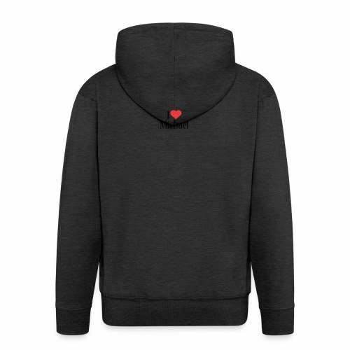 Michael designstyle i love Michael - Men's Premium Hooded Jacket