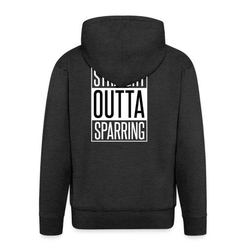 Straight Outta Sparring - Männer Premium Kapuzenjacke