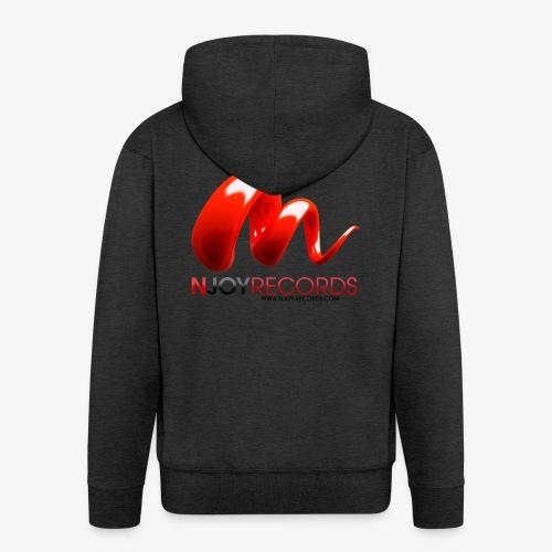 Logo Njoy Records Noir - Veste à capuche Premium Homme