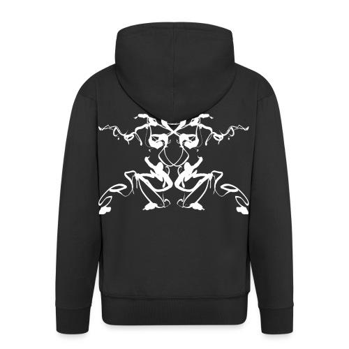 Rorschach test of a Shaolin figure Tigerstyle - Men's Premium Hooded Jacket