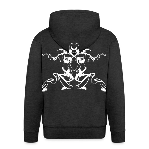 Rorschach test of a Shaolin figure Tigerstyle - Men's Premium Hooded Jacket