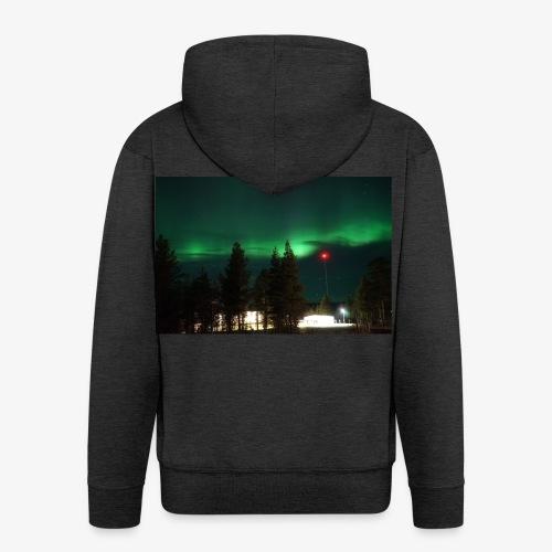 Aurora Boreale - Felpa con zip Premium da uomo
