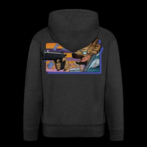 Gun Dog - bez napisu - Rozpinana bluza męska z kapturem Premium