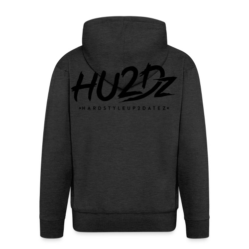 HU2Dz Logo Zwart - Mannenjack Premium met capuchon