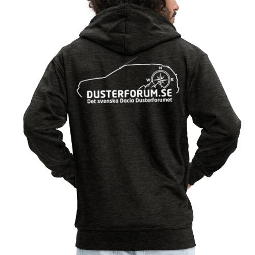Dusterforum logo #2 Vit - Premium-Luvjacka herr