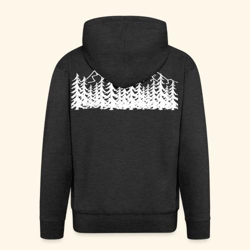 Berge Wälder weiß Mountains Woods - Männer Premium Kapuzenjacke
