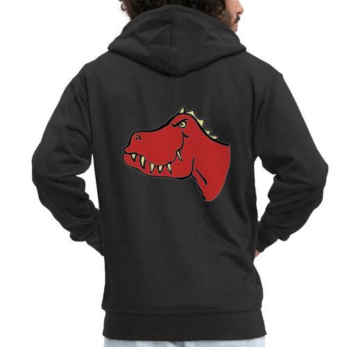 T Rex, Red Dragon - Men's Premium Hooded Jacket