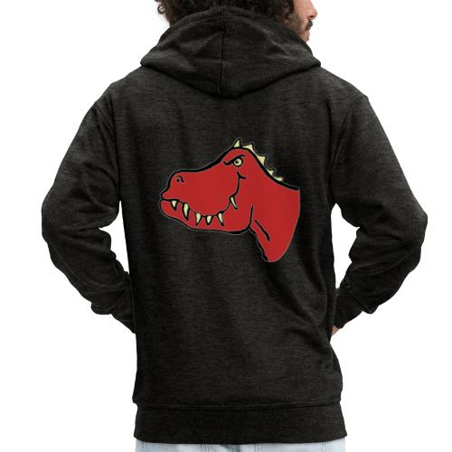 T Rex, Red Dragon - Men's Premium Hooded Jacket
