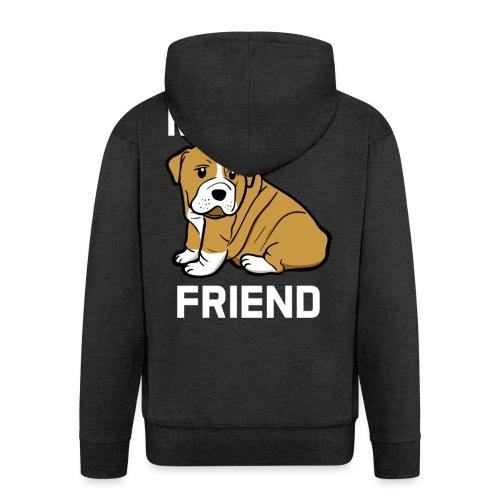 My Best Friend - Hundewelpen Spruch - Männer Premium Kapuzenjacke