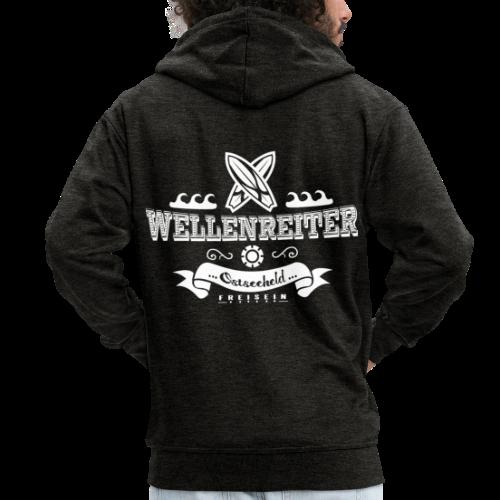 Geweihbaer Wellenreiter - Männer Premium Kapuzenjacke
